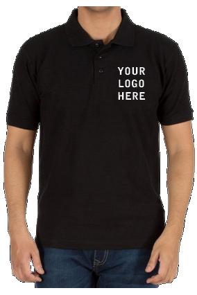 160GSM Matty  - Create Your Own Black Collar T-Shirt