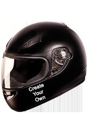 Create Your Own Studds Rhyno Black Helmet