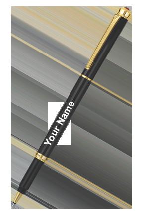 Pierre Cardin Black Chrome Exclusive Roller Pen