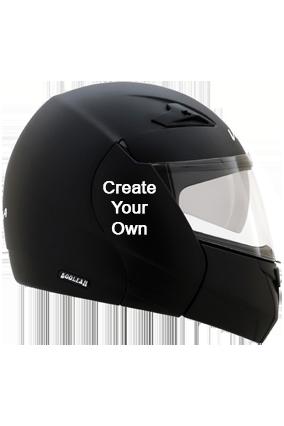 Create Your Own Vega Boolean Dull Black Helmet
