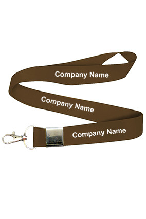 Company Name Brown Lanyard