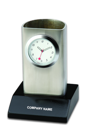 Promotional Desk Stand with Clock BTC-318-A