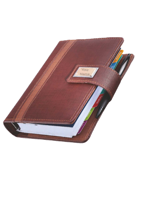 Business Organiser Leatherite Gold Fitting GE-1067