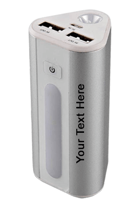 Power Plus Power House Triangle Shape Power Bank With Lamp And Torch (Dual Usb Port)(9000 Mah)-C36