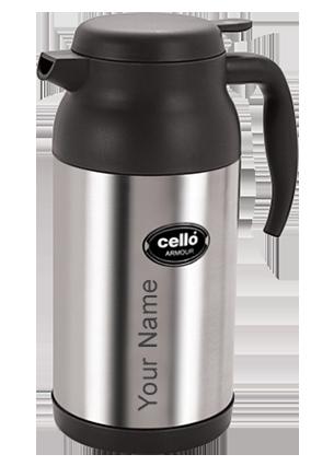 Customized Cello Armour 1600 Ml Flask (Silver)