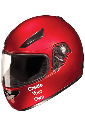 Create Your Own Studds Rhyno Cherry Red Helmet