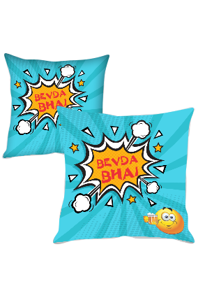 Bevda Bhai Polyester Cushion Cover