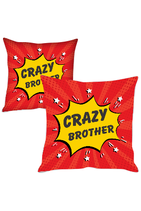 Crazy Brother Polyester Cushion Cover