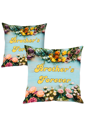 Brother's Forever Polyester Cushion Cover