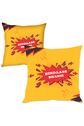 Bindaass Bhabhi Polyester Cushion Cover