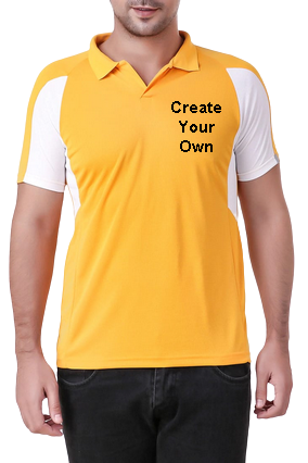 170GSM - Create Your Own Yellow Sport Collar T-Shirt