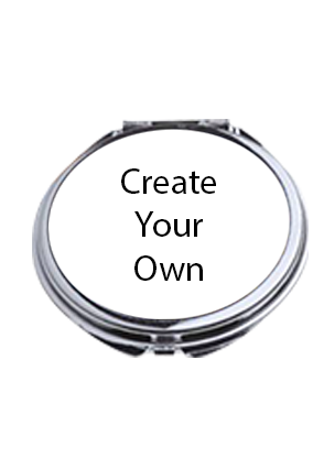 Create Your Own Oval Shape Compact Mirror