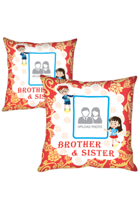 Brother & Sister Polyester Cushion Cover