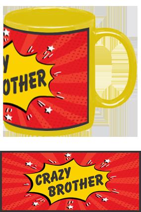 Amazing Crazy Brother Yellow Patch Mug