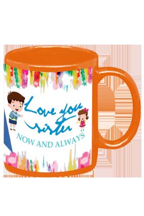 Love You Sister Orange Patch Mug