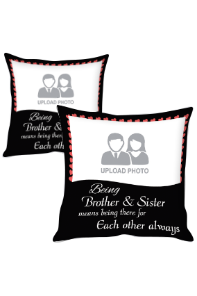 Brother & Sister Forever Polyester Cushion Cover