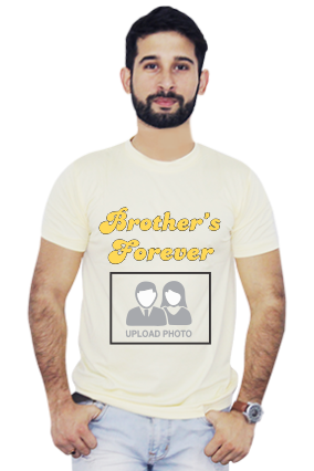 Brother's Forever Round Neck Yellow Dri Fit T-Shirt