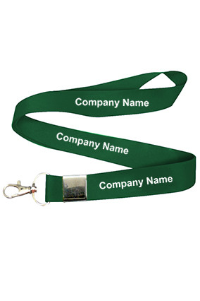 Company Name Dark Green Lanyard