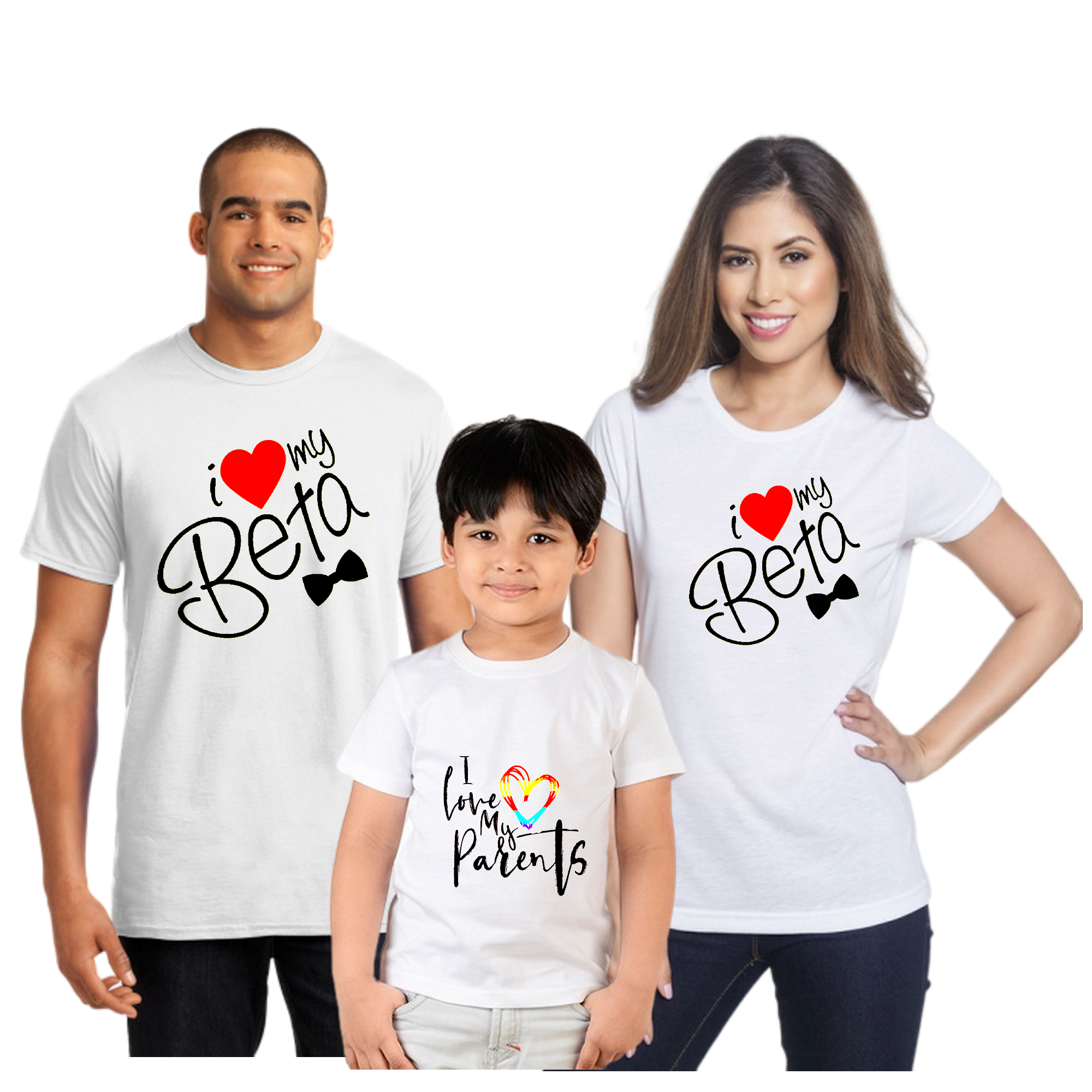 Father Mother Son Family Combo Half Sleeve T-Shirt