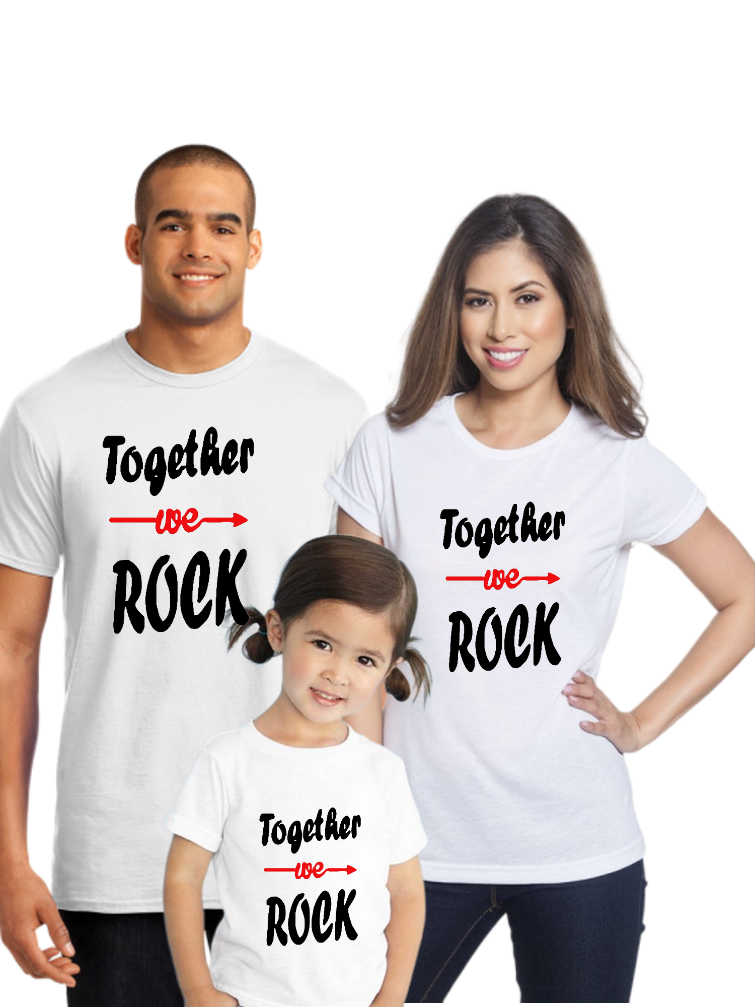 Father Mother Daughter Family Combo Half Sleeve T-Shirt