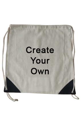 Create Your Own Drawstring Cotton Bag 15.9X14.1 Tote Bag