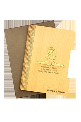 A5 Notebook Wodden Diary