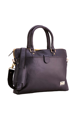 Custom Leatherite Executive Gold Bag Zip GE-1153