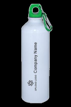 White Gloss Green Cap Sports Bottle 750ml