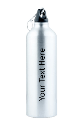 Silver Gloss Sports Bottle 750ml