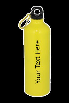 Yellow Gloss Sports Bottle 750ml
