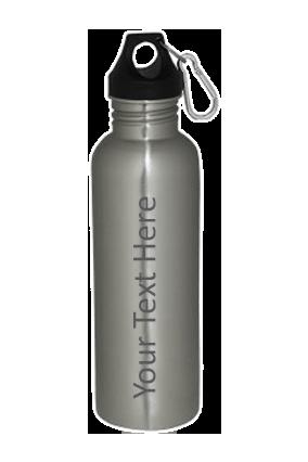 Silver Steel Carabiner Bottle 800ml