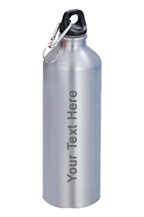 Sports Bottle With Carabiner (750Ml) Silver