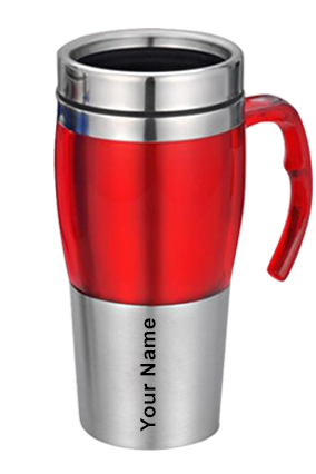 Dual Steel Mug (480 Ml) Red With Grey-GM-010