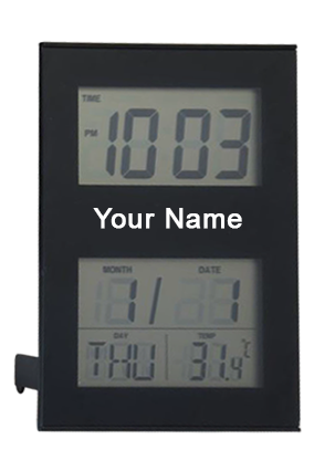 Wall Cum Table Clock GM-255 BLACK