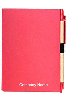 Hard Bound Eco Notebook Pink-GM-314