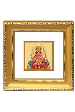 Customized Gold Plated Ganesha Frame Dg - 1B