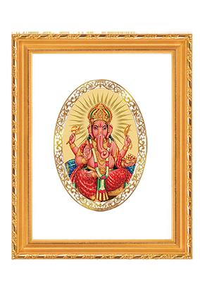 Custom Gold Plated Ganesha Frame Dg S2 Royal
