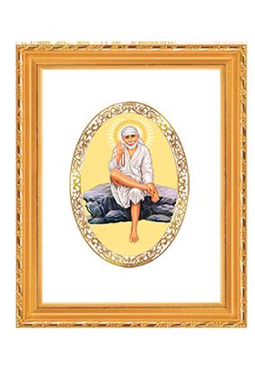 Gold Plated Sai Baba Rock Pose Frame Dg S2 Royal