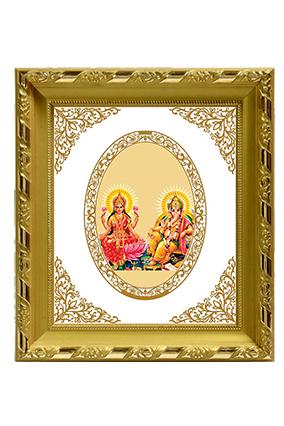 Gold Plated Laxmi Ganesh Frame Dg S1 Royal