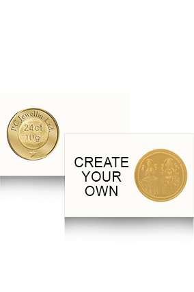 Create Your Own 10 Gm- 24K Laxmi Ganesh Pure Gold