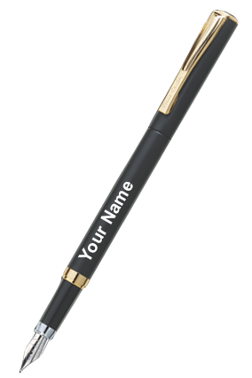 Pierre Cardin Golden Eye Fountain Pen Black