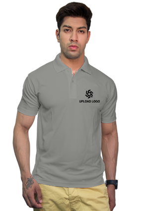 160GSM - Create Your Own Grey Collar Dry-Fit T-Shirt