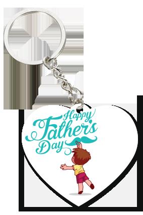 Dashing Dad Heart Key Chain