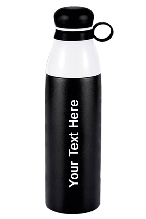 Pearl Double Cap Vacuum Bottle In Metallic Finish With Carry Loop (750 Ml Approx)-165
