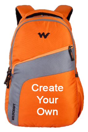 Create Your Own Wildcraft Virtuso Orange Laptop Backpack