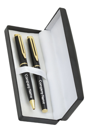 Compu Link Black With Gold Pen