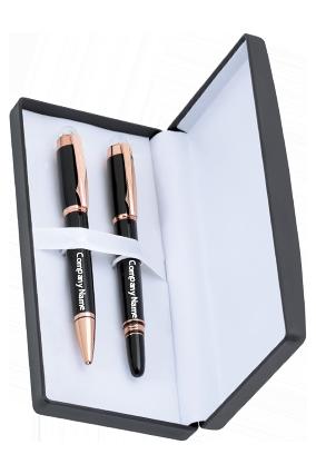 Chariston Diar Black With Gold Pen IDF-9155