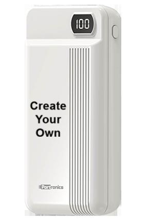 Printed Design Your Own Indo 10D 20000mAh Portronics Power Bank POR-295- White
