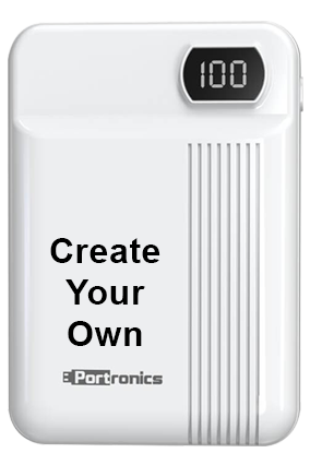 Printed Design Your Own Indo 10D 10000mAh Portronics Power Bank POR-235 White