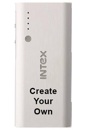 Create Your Own INTEX - 12500mAh Power Bank (IT-PB)-White